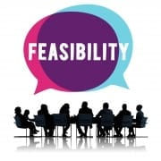 people discussing feasability